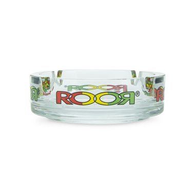 ROOR Glass Ashtray - Rasta Logo