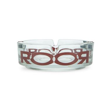 ROOR Glass Ashtray - Red Logo