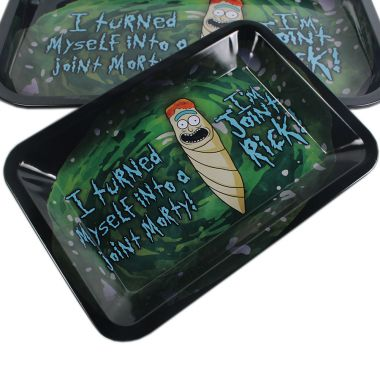 'Rick Roll' Metal Rolling Tray
