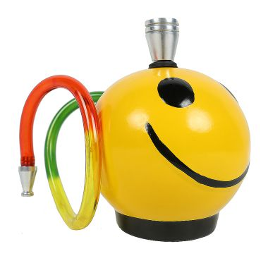 Round Smiley Ceramic Bong
