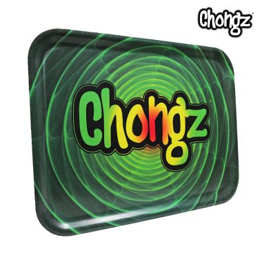 Chongz Compressed Wood Rolling Tray - Rasta Spiral
