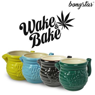 Bongstar Wake & Bake Ceramic Mug