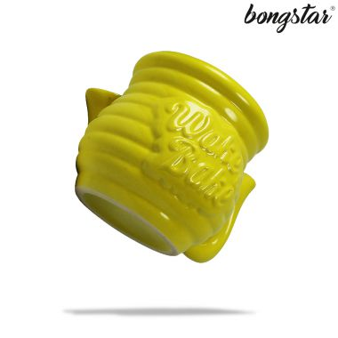 Bongstar Wake & Bake Ceramic Mug - Yellow