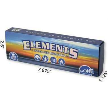 Elements Premium Pre Rolled King Size Cones 40 cones per pack 109mm cone