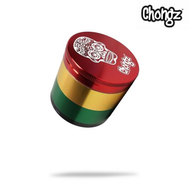 Chongz 'Tom Cruzer' 56mm 4-Part Sifter Grinder - Rasta