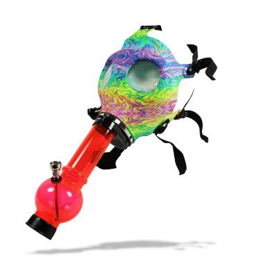 Atomic Psychedelic Gas Mask Bong