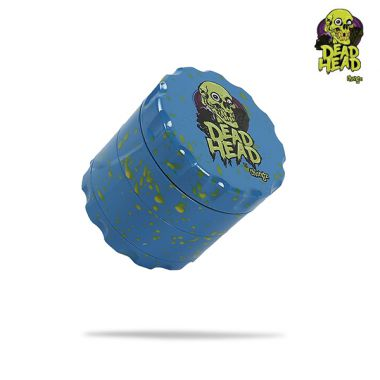 Dead Head by Chongz 60mm Sifter Grinder (Blue with Yellow Splashes)