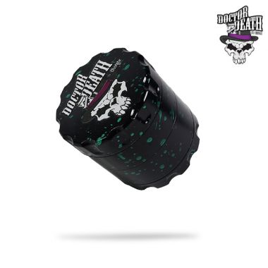 Dr Death by Chongz 60mm Sifter Grinder (Black with Green Splashes)