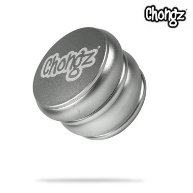 Chongz 62mm 4-Part 'Warped Wheel' Sifter Grinder - Silver
