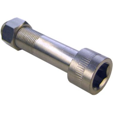 Nut & Bolt Pipe - Chrome