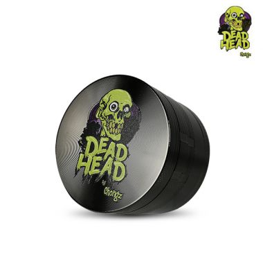 Dead Head by Chongz 60mm 4-Part Sifter Grinder - Gunmetal Grey