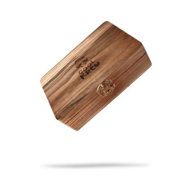 CoolKrew Medium Wooden Rolling Box