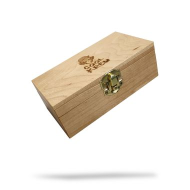 CoolKrew Small Wooden Rolling Box