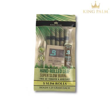 King Palm Organic Pre-Rolled Leaf - Slim 1.25g (5 Pack)