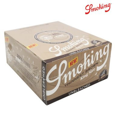Smoking Brown Thinnest Kingsize Slim Connoisseurs - Box of 24