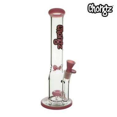 Chongz 'Stinky Toes' 40cm Glass Percolator Bong - Pink