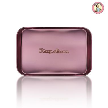 Blazy Susan Stainless Steel Rolling Tray - Purple