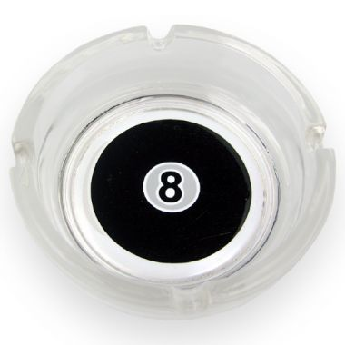 8 Ball Glass Ashtray - Regular