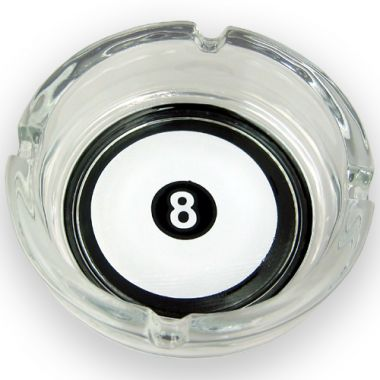 8 Ball Glass Ashtray - Negative