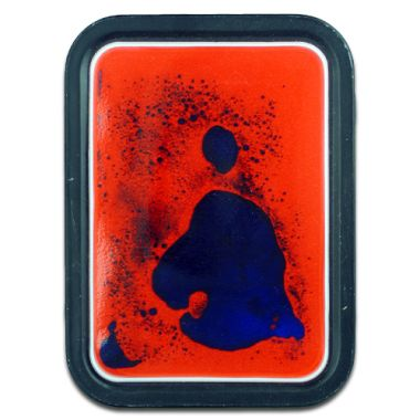Squidgy Rorschach 2oz Tobacco Tin - Orange/ Blue