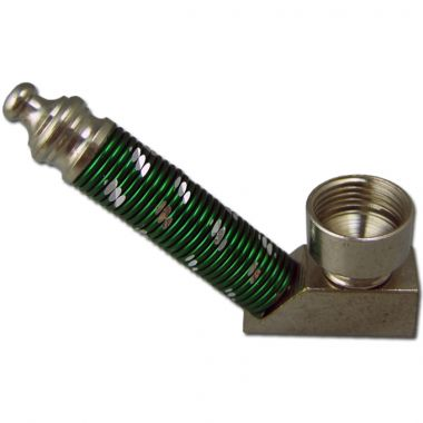Upright Ribbed Mirror Pipe - Green