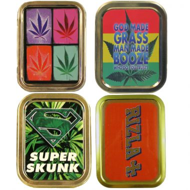 2oz Smoker's Choice Tobacco Tins