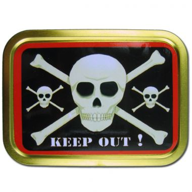 2oz Smoker's Choice Tobacco Tins - Keep Out