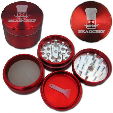 Head Chef Large Sifter Grinder - Anodised Red