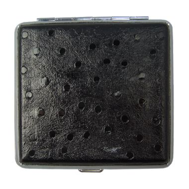 Faux Leather Cigarette Case - Black