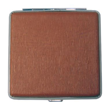 Faux Leather Cigarette Case - Brown