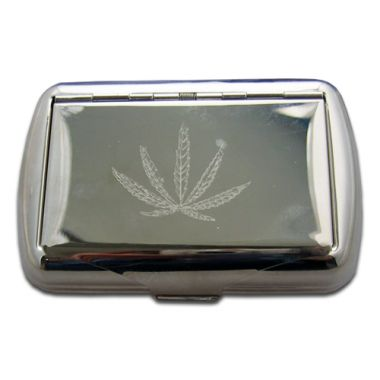 Hemp Leaf Tobacco Tin