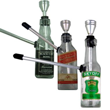 Miniature Bottle Bongs