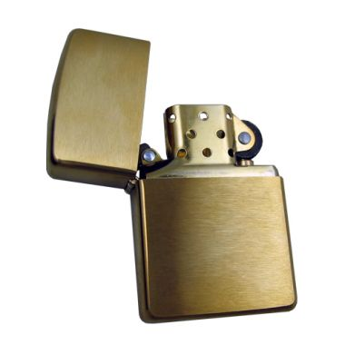 Armor Case Brushed Brass Zippo