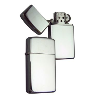 Slim Highly Polished Chrome Zippo