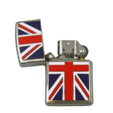 Brushed Chrome Union Jack Zippo