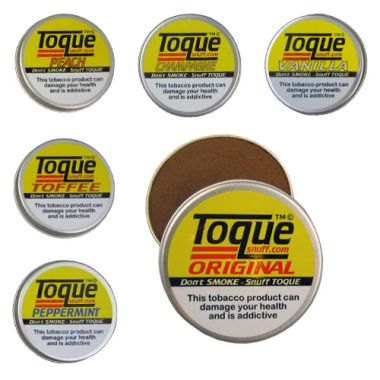 Toque Snuff Tin - Peach