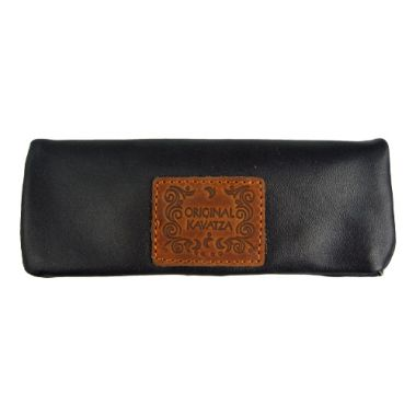 Kavatza Mini Rolling Pouch - Black Leather