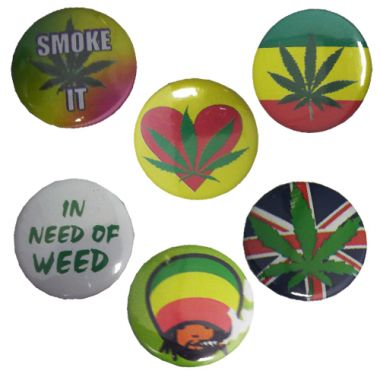 Leaf Pin Badges