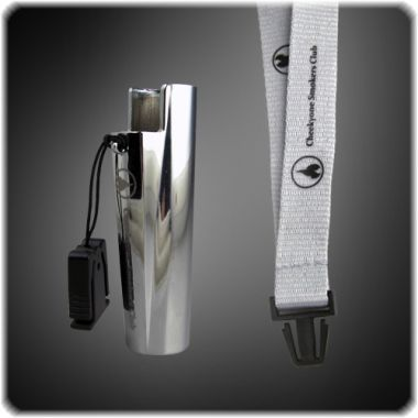Cheeky One Clipper Holder on Lanyard - Brushed Chrome