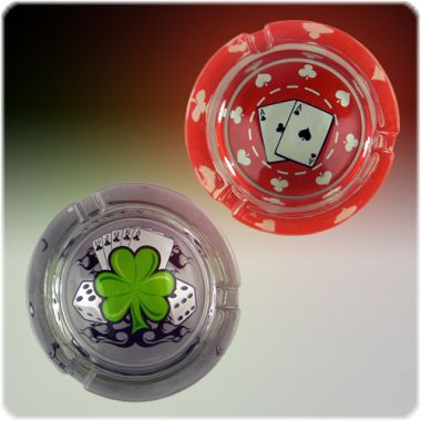 The Casino Collection Glass Ashtrays