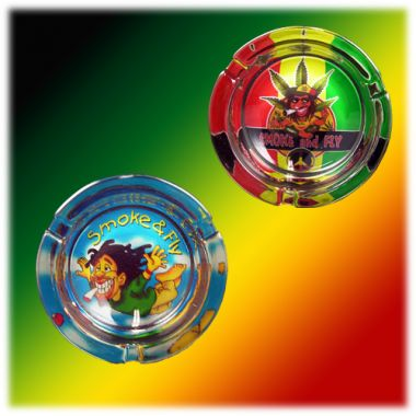 Rastaman Glass Ashtrays