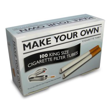 'Make Your Own' 100 King Size Filter Tubes