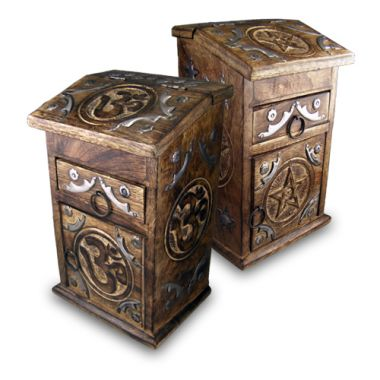 Standing Apothecary Boxes - Om