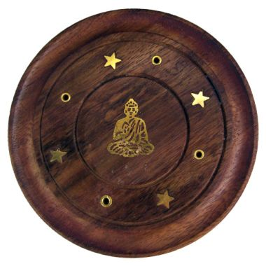 Embossed Incense Coasters - Buddha