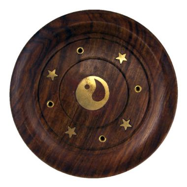 Embossed Incense Coasters - Yin Yang