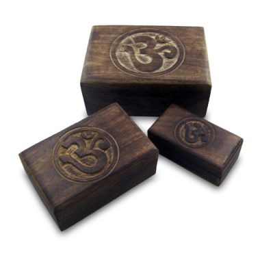 3 in 1 Wooden Om Boxes