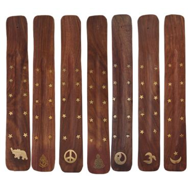 Embossed Wooden Incense Boats