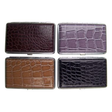 Assorted 'Leather' Design Cigarette Case