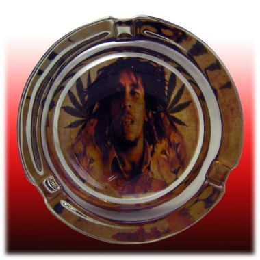 The Bob Marley Collection Glass Ashtrays - Iron Lion Zion