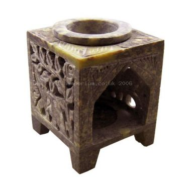 Soapstone Elephant Oil Burner